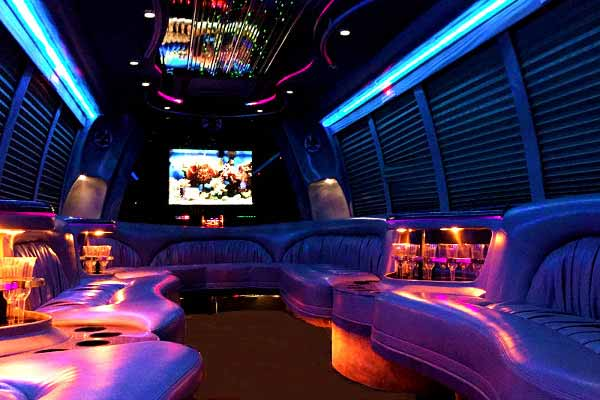 18 passenger party bus rental White Hall