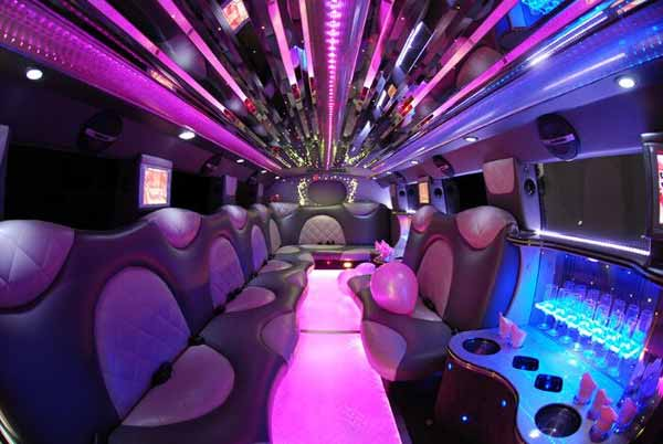 Cadillac Escalade limo interior Glen Burnie