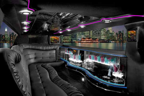 Chrysler 300 limo interior Westminster
