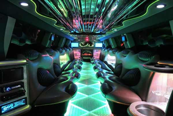 Hummer limo interior White Hall
