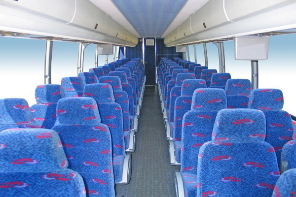 50 person charter bus rental Clarksville